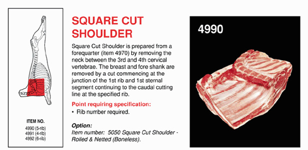 Square cut shoulder